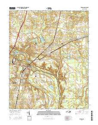 Weldon North Carolina Current topographic map, 1:24000 scale, 7.5 X 7.5 Minute, Year 2016