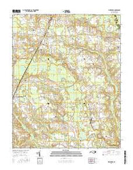 Whitakers North Carolina Current topographic map, 1:24000 scale, 7.5 X 7.5 Minute, Year 2016