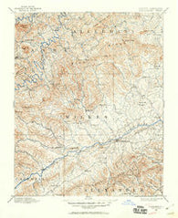 Wilkesboro North Carolina Historical topographic map, 1:125000 scale, 30 X 30 Minute, Year 1889