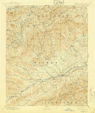 Wilkesboro North Carolina Historical topographic map, 1:125000 scale, 30 X 30 Minute, Year 1891