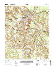 Williamston North Carolina Current topographic map, 1:24000 scale, 7.5 X 7.5 Minute, Year 2016 from North Carolina Maps Store