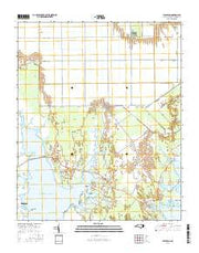 Williston North Carolina Current topographic map, 1:24000 scale, 7.5 X 7.5 Minute, Year 2016 from North Carolina Maps Store