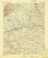 Yadkinville North Carolina Historical topographic map, 1:125000 scale, 30 X 30 Minute, Year 1893
