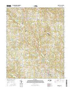 Yadkinville North Carolina Current topographic map, 1:24000 scale, 7.5 X 7.5 Minute, Year 2016 from North Carolina Map Store