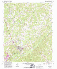 Yanceyville North Carolina Historical topographic map, 1:24000 scale, 7.5 X 7.5 Minute, Year 1972