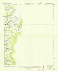 Zionville Tennessee Historical topographic map, 1:24000 scale, 7.5 X 7.5 Minute, Year 1935