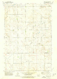 Abbey Hill North Dakota Historical topographic map, 1:24000 scale, 7.5 X 7.5 Minute, Year 1973