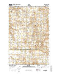 Abbey Hill North Dakota Current topographic map, 1:24000 scale, 7.5 X 7.5 Minute, Year 2014