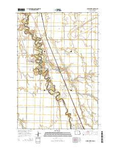 Abercrombie North Dakota Current topographic map, 1:24000 scale, 7.5 X 7.5 Minute, Year 2014