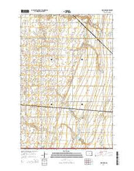 Absaraka North Dakota Current topographic map, 1:24000 scale, 7.5 X 7.5 Minute, Year 2014