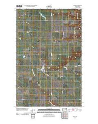 Adams North Dakota Historical topographic map, 1:24000 scale, 7.5 X 7.5 Minute, Year 2011