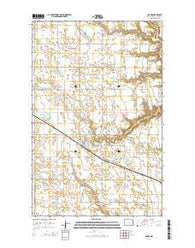 Adams North Dakota Current topographic map, 1:24000 scale, 7.5 X 7.5 Minute, Year 2014