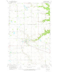 Adams North Dakota Historical topographic map, 1:24000 scale, 7.5 X 7.5 Minute, Year 1972