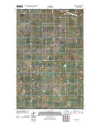 Adams SE North Dakota Historical topographic map, 1:24000 scale, 7.5 X 7.5 Minute, Year 2011