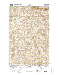 Adams SE North Dakota Current topographic map, 1:24000 scale, 7.5 X 7.5 Minute, Year 2014