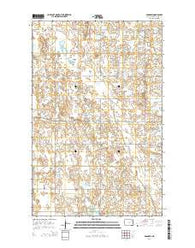 Adams SW North Dakota Current topographic map, 1:24000 scale, 7.5 X 7.5 Minute, Year 2014