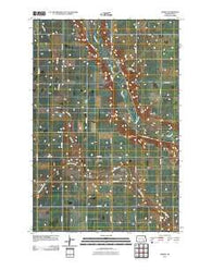 Adrian North Dakota Historical topographic map, 1:24000 scale, 7.5 X 7.5 Minute, Year 2011