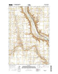 Adrian North Dakota Current topographic map, 1:24000 scale, 7.5 X 7.5 Minute, Year 2014