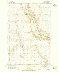 Adrian North Dakota Historical topographic map, 1:24000 scale, 7.5 X 7.5 Minute, Year 1953