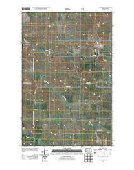 Alexander North Dakota Historical topographic map, 1:24000 scale, 7.5 X 7.5 Minute, Year 2011