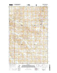 Alexander North Dakota Current topographic map, 1:24000 scale, 7.5 X 7.5 Minute, Year 2014