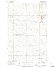 Alexander North Dakota Historical topographic map, 1:24000 scale, 7.5 X 7.5 Minute, Year 1972
