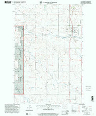 Alexander North Dakota Historical topographic map, 1:24000 scale, 7.5 X 7.5 Minute, Year 1997