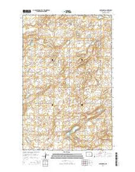 Alexandria North Dakota Current topographic map, 1:24000 scale, 7.5 X 7.5 Minute, Year 2014