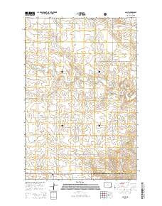 Alpha North Dakota Current topographic map, 1:24000 scale, 7.5 X 7.5 Minute, Year 2014
