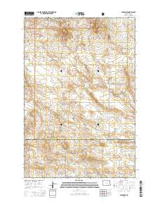 Amidon SE North Dakota Current topographic map, 1:24000 scale, 7.5 X 7.5 Minute, Year 2014