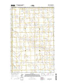 Antler NW North Dakota Current topographic map, 1:24000 scale, 7.5 X 7.5 Minute, Year 2014