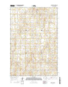 Appert Lake North Dakota Current topographic map, 1:24000 scale, 7.5 X 7.5 Minute, Year 2014