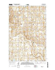 Baker North Dakota Current topographic map, 1:24000 scale, 7.5 X 7.5 Minute, Year 2014