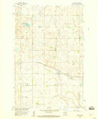 Baker North Dakota Historical topographic map, 1:24000 scale, 7.5 X 7.5 Minute, Year 1958