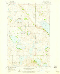 Balta SE North Dakota Historical topographic map, 1:24000 scale, 7.5 X 7.5 Minute, Year 1958