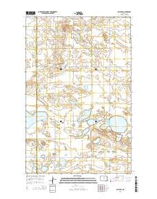 Balta NW North Dakota Current topographic map, 1:24000 scale, 7.5 X 7.5 Minute, Year 2014