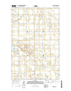 Bantry NW North Dakota Current topographic map, 1:24000 scale, 7.5 X 7.5 Minute, Year 2014