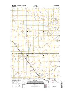 Barton North Dakota Current topographic map, 1:24000 scale, 7.5 X 7.5 Minute, Year 2014