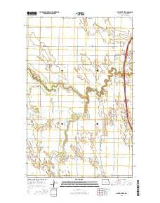 Bathgate NE North Dakota Current topographic map, 1:24000 scale, 7.5 X 7.5 Minute, Year 2014