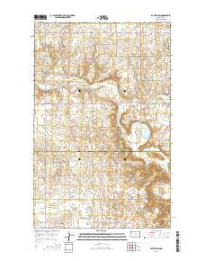 Battleview North Dakota Current topographic map, 1:24000 scale, 7.5 X 7.5 Minute, Year 2014