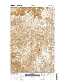 Belden SW North Dakota Current topographic map, 1:24000 scale, 7.5 X 7.5 Minute, Year 2014