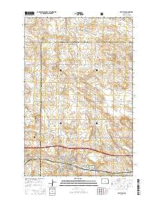 Belfield North Dakota Current topographic map, 1:24000 scale, 7.5 X 7.5 Minute, Year 2014