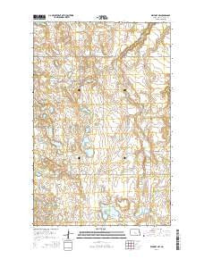 Benedict NW North Dakota Current topographic map, 1:24000 scale, 7.5 X 7.5 Minute, Year 2014