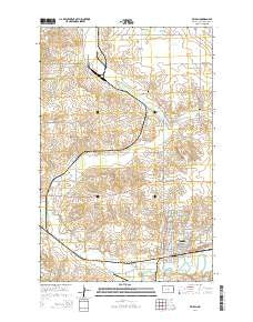 Beulah North Dakota Current topographic map, 1:24000 scale, 7.5 X 7.5 Minute, Year 2014