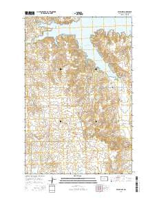 Beulah NW North Dakota Current topographic map, 1:24000 scale, 7.5 X 7.5 Minute, Year 2014