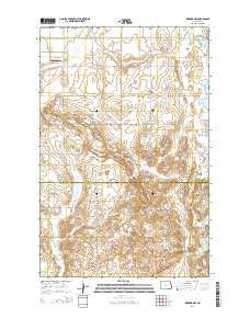 Binford NW North Dakota Current topographic map, 1:24000 scale, 7.5 X 7.5 Minute, Year 2014