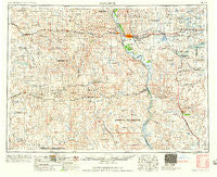 Bismarck North Dakota Historical topographic map, 1:250000 scale, 1 X 2 Degree, Year 1958