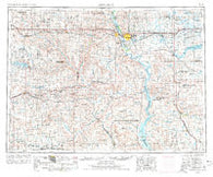 Bismarck North Dakota Historical topographic map, 1:250000 scale, 1 X 2 Degree, Year 1954