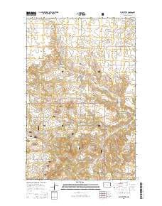 Blue Buttes North Dakota Current topographic map, 1:24000 scale, 7.5 X 7.5 Minute, Year 2014