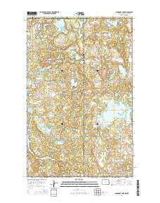 Boundary Lake North Dakota Current topographic map, 1:24000 scale, 7.5 X 7.5 Minute, Year 2014